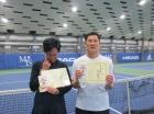 第206回ナイターミックスD 中級以下準優勝 内田国女・南波精一郎