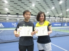 第211回ナイターミックスD 中級以下準優勝 澤部光太郎・中島かおり