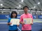 第215回ナイターミックスD オープン準優勝 小見野恵美・岡本和剛