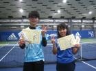 第217回ナイターミックスD 中級以下準優勝 西垣智史・小見野恵美