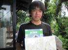 第10回中学生男子 準優勝 小林 瑞樹