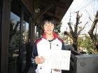 第12回中学生男子 準優勝 石井 貴之