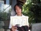 第13回中学生男子 準優勝 藤原 由貴