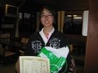 第14回中学生女子 準優勝 畠中 夢香