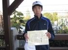第8回中学生男子 準優勝 新井 亮太