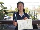第8回中学生女子 準優勝 江崎 希海