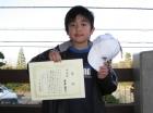 第11回小学生男子10歳以下 準優勝 浦澤 龍生