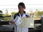 第11回小学生12歳以下 準優勝 堀江 菜月