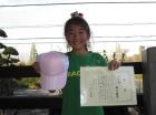 第11回小学生女子10歳以下 準優勝 堀江 結衣