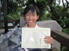 第14回小学生女子10歳以下 優勝 萩原 直