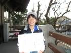 第16回小学生男子10歳以下 準優勝 野口 爽太朗