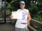第17回小学生男子12歳以下 準優勝 牧羽 孝典