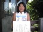 第17回小学生女子 準優勝 大沢 帆波
