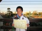 第21回小学生男子10歳以下 準優勝 朝倉 龍雅