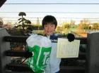 第21回小学生男子12歳以下 準優勝 賀川 嵩介