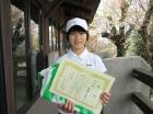第22回小学生女子12歳以下 準優勝 石澤 千花