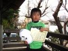 第29回小学生男子 12歳以下 準優勝 山口 陽大