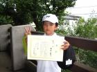 第30回小学生男子 10歳以下 準優勝 鴇田 翔大