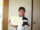 第33回小学生女子 10歳以下 準優勝 須見 桃子