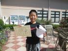 第40回小学生 12歳以下 準優勝 粕谷 温人