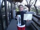 第9回小学生女子 準優勝 松浦 朱里