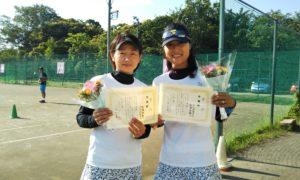 第1424回 桜田倶楽部 女子ダブルス準優勝:松浦・入江ペア