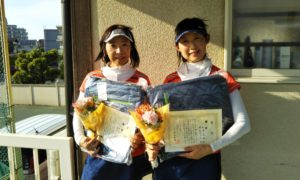 第1425回 関町ローンテニスクラブ 女子ダブルス優勝:榎本・松澤ペア