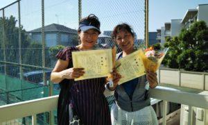 第1426回 関町ローンテニスクラブ 女子ダブルス準優勝:原田ペア・関谷ペア