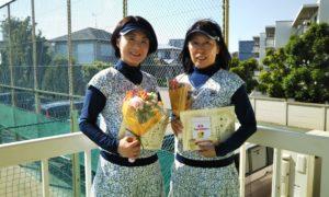 第1426回 関町ローンテニスクラブ 女子ダブルス優勝:岩田・名取ペア