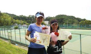 第1427回 百草テニスガーデン 女子ダブルス準優勝:重松・小見野ペア