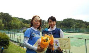 第1427回 百草テニスガーデン 女子ダブルス優勝:山中・尾崎ペア
