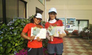 第1429回 緑ヶ丘テニスガーデン 女子ダブルス準優勝:合田・中村ペア