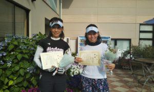 第1429回 緑ヶ丘テニスガーデン 女子ダブルス優勝:原田・和田ペア
