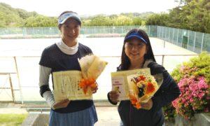 第1430回 百草テニスガーデン 女子ダブルス準優勝:佐藤・池田ペア