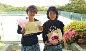 第1430回 百草テニスガーデン 女子ダブルス優勝:名倉・大林ペア