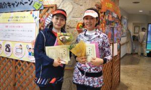 第1433回 緑ヶ丘テニスガーデン 女子ダブルス準優勝:小池・細見ペア