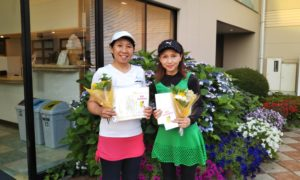 第1435回 緑ヶ丘テニスガーデン 女子ダブルス準優勝:小島・横山ペア