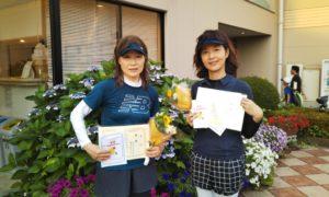 第1435回 緑ヶ丘テニスガーデン 女子ダブルス優勝:水島・福田ペア