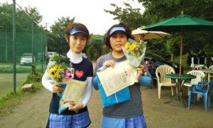 第1436回 桜田倶楽部 女子ダブルス準優勝:久木元・升方ペア