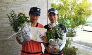 第1438回 東京グリーンテニスクラブ 女子ダブルス準優勝:原田・西村ペア