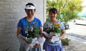 第1438回 東京グリーンテニスクラブ 女子ダブルス優勝:田中・田中ペア