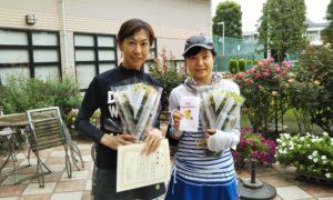 第1443回 緑ヶ丘テニスガーデン 女子ダブルス準優勝:原田・石井ペア