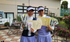 第1443回 緑ヶ丘テニスガーデン 女子ダブルス優勝:伊藤・森山ペア