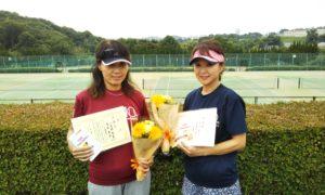 第1444回 百草テニスガーデン 女子ダブルス準優勝:小見野・重松ペア