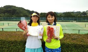 第1444回 百草テニスガーデン 女子ダブルス優勝:宮本・横内ペア