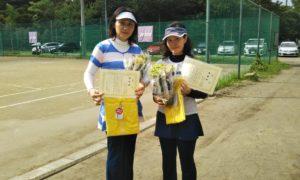 第1445回 桜田倶楽部 女子ダブルス準優勝:松本・元木ペア