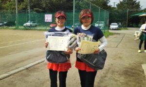 第1445回 桜田倶楽部 女子ダブルス優勝:明楽・石川ペア