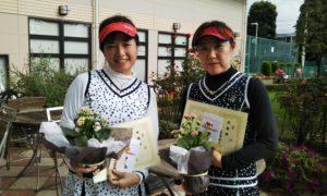 第1450回 緑ヶ丘テニスガーデン 女子ダブルス準優勝:伊沢・島津ペア