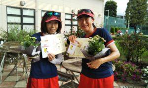 第1450回 緑ヶ丘テニスガーデン 女子ダブルス優勝:沢登・深作ペア