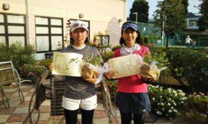 第1451回 緑ヶ丘テニスガーデン 女子ダブルス準優勝:榧野・今崎ペア